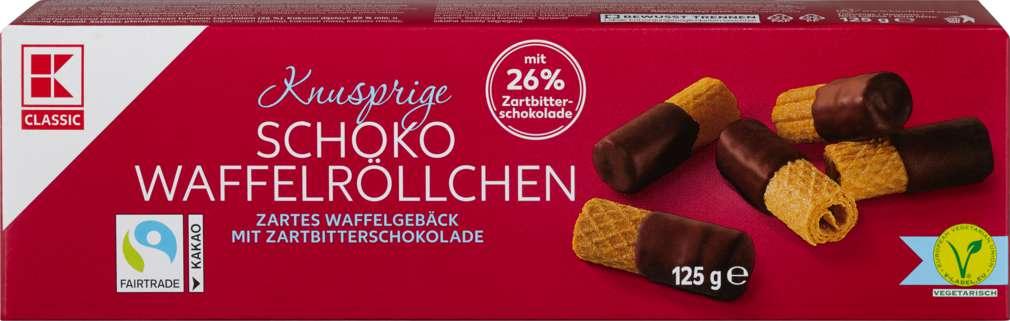 Abbildung des Sortimentsartikels K-Classic Schoko-Röllchen Zartbitter 125g