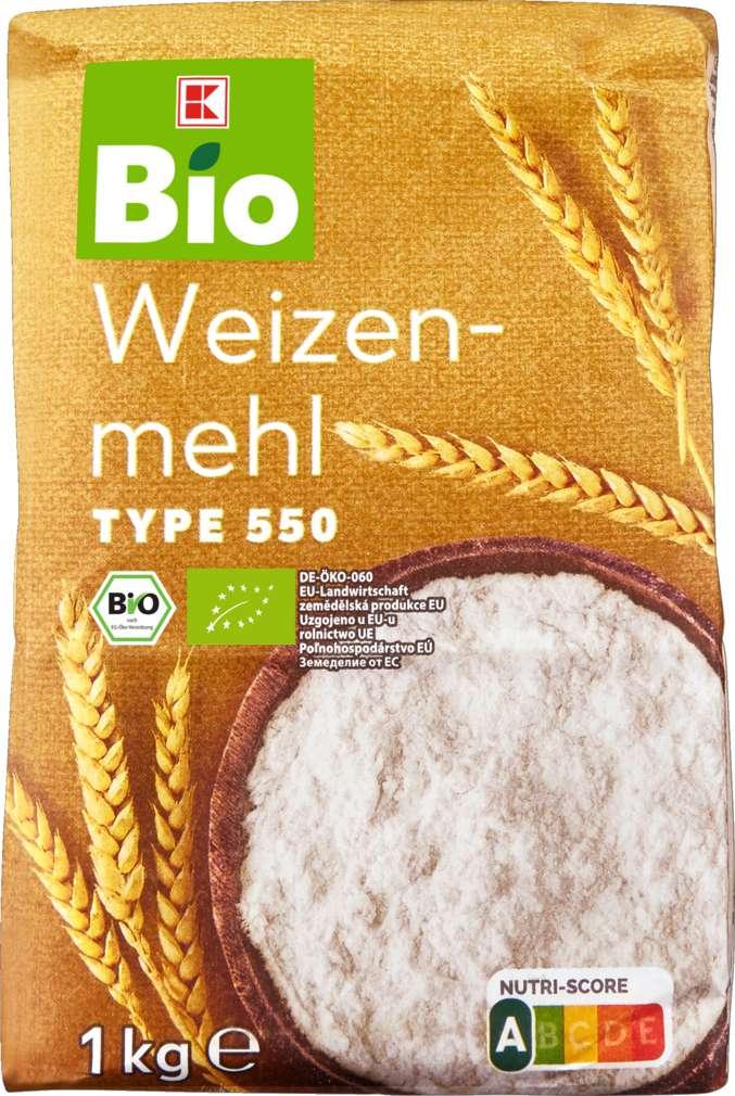 Abbildung des Sortimentsartikels K-Bio Weizenmehl Type 550 1kg