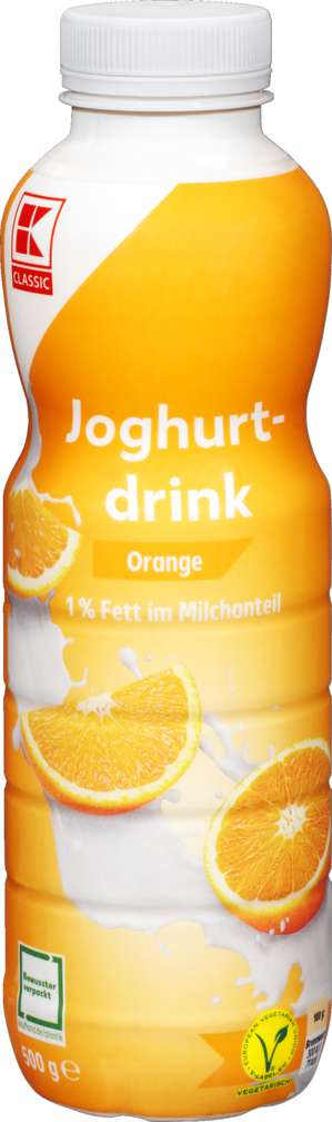 Abbildung des Sortimentsartikels K-Classic Joghurtdrink Orange 500g