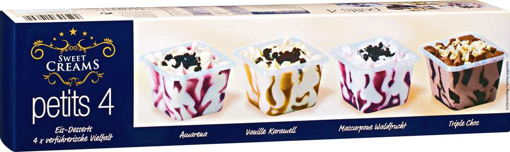 Abbildung des Sortimentsartikels Sweet Creams Eis-Desserts 4x130ml