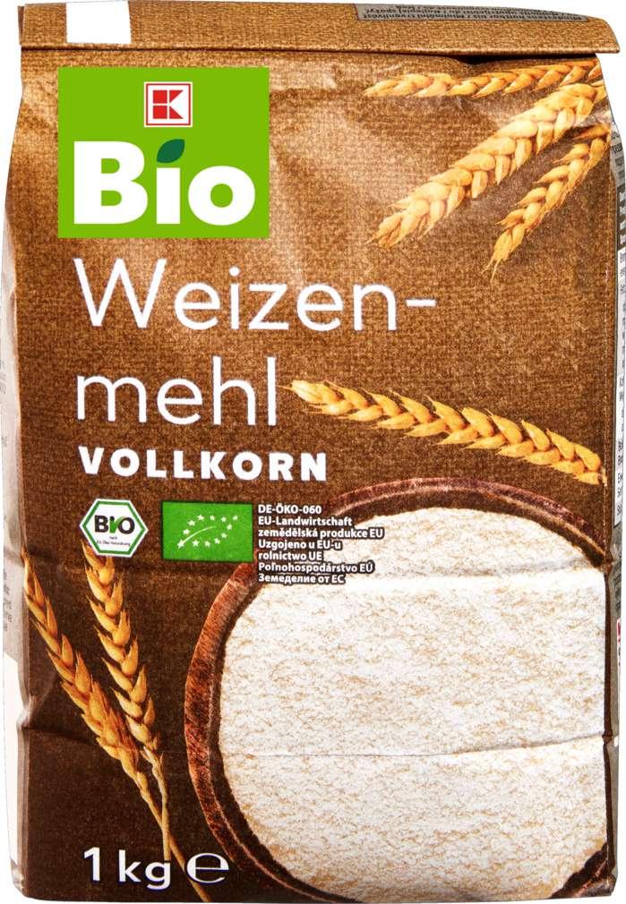 Abbildung des Sortimentsartikels K-Bio Weizenmehl Vollkorn 1kg