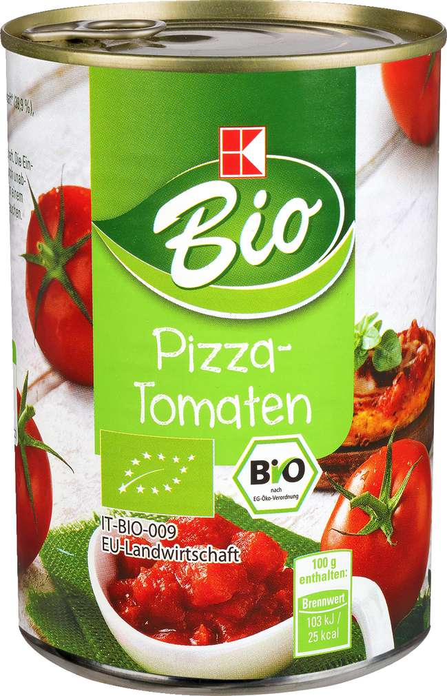 Abbildung des Sortimentsartikels K-Bio Pizza-Tomaten 425ml