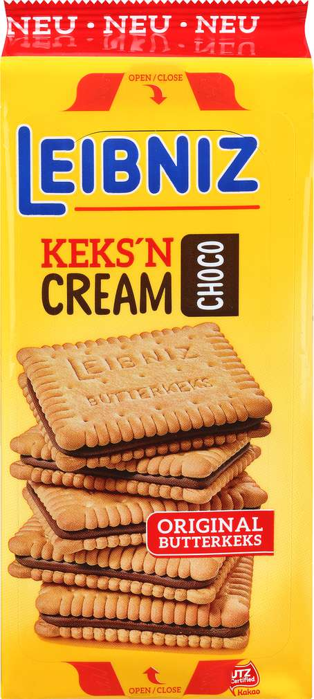 Abbildung des Sortimentsartikels Leibniz Keks'N Cream Choco 228g
