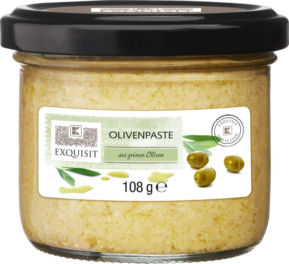 Abbildung des Sortimentsartikels Exquisit Olivenpaste Grün 108g