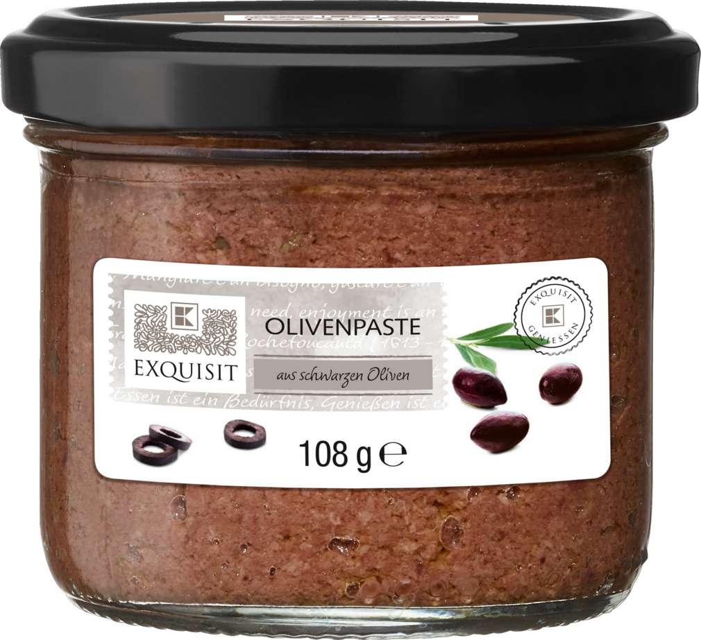 Abbildung des Sortimentsartikels Exquisit Olivenpaste Schwarz 108g
