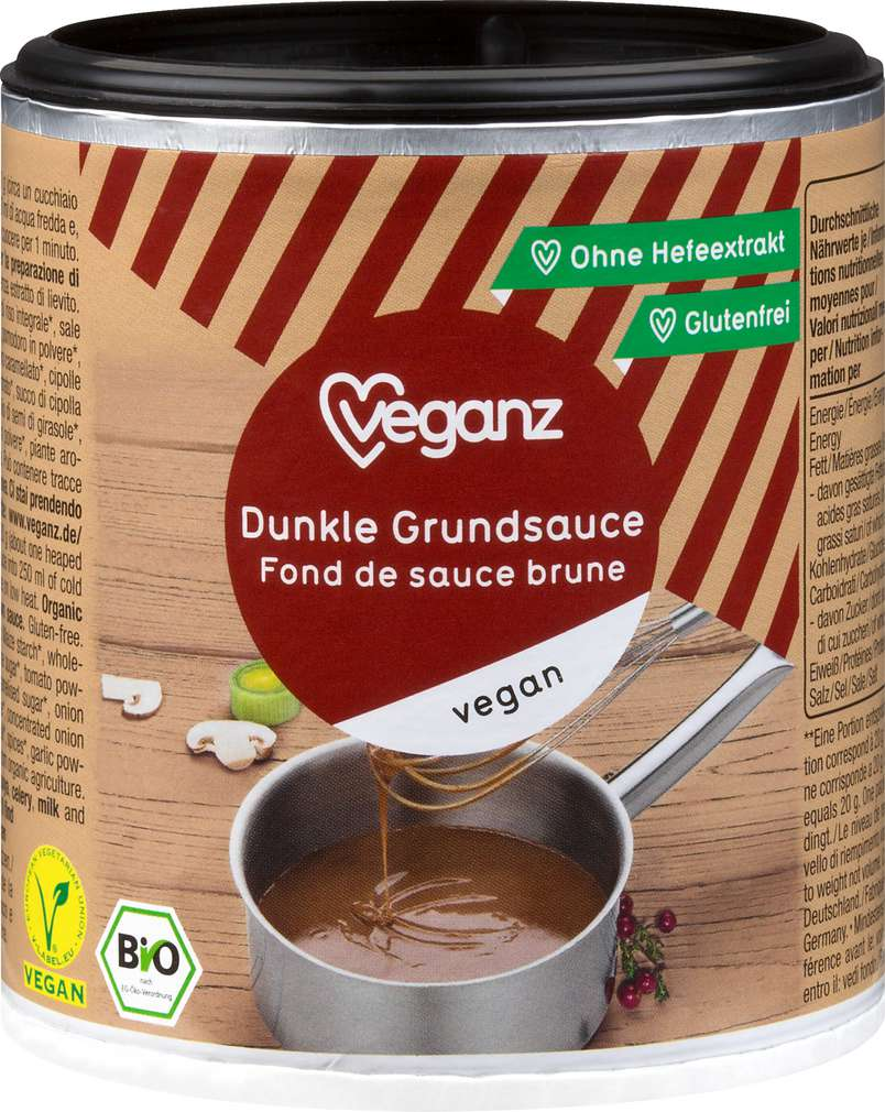 Abbildung des Sortimentsartikels Veganz Bio-Grundsauce Dunkel 140g