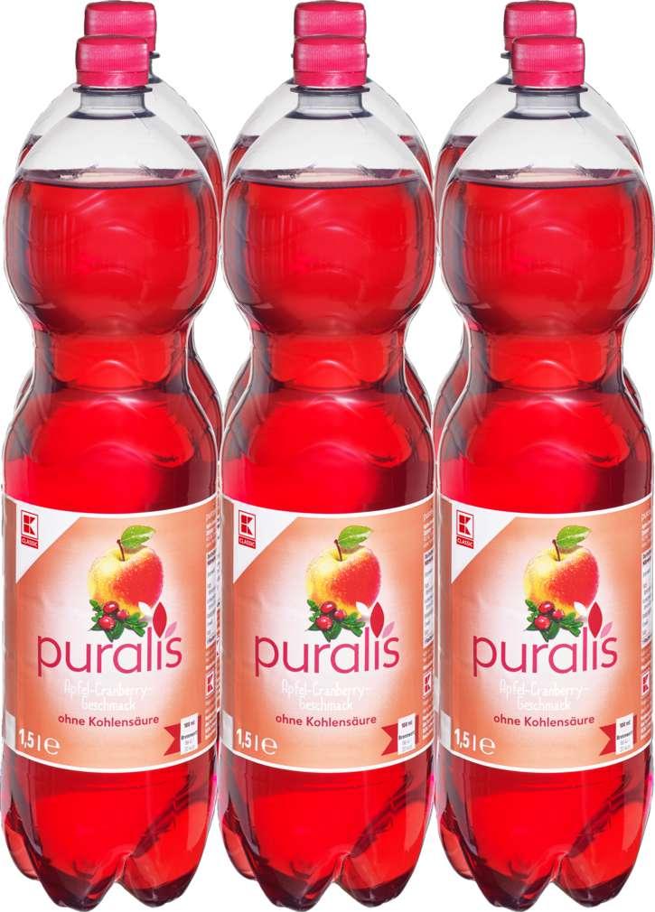 Abbildung des Sortimentsartikels K-Classic Puralis Apfel-Cranberry 6x1,5l