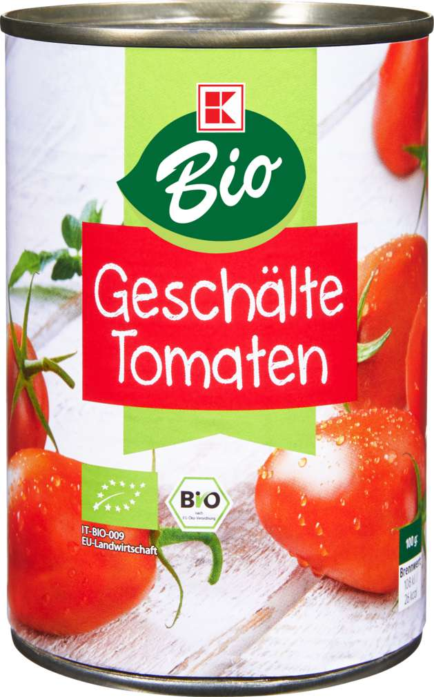 Abbildung des Sortimentsartikels K-Bio Geschälte Tomaten 425ml