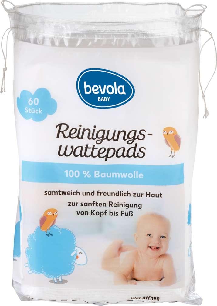 Abbildung des Sortimentsartikels Bevola Baby Wattepads 60ST