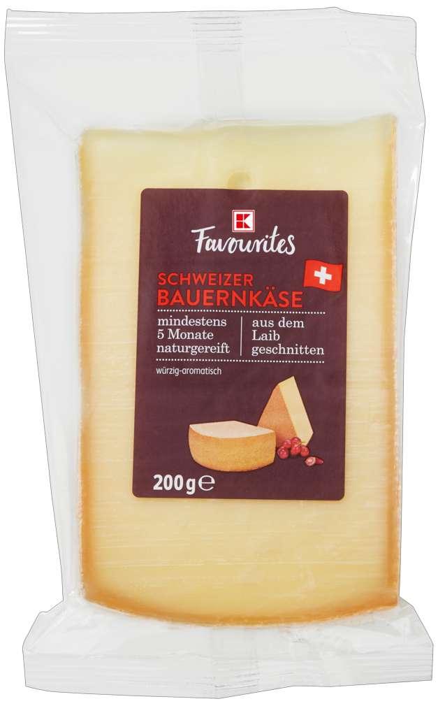 Abbildung des Sortimentsartikels K-Favourites Schweizer Bauernkäse 200g