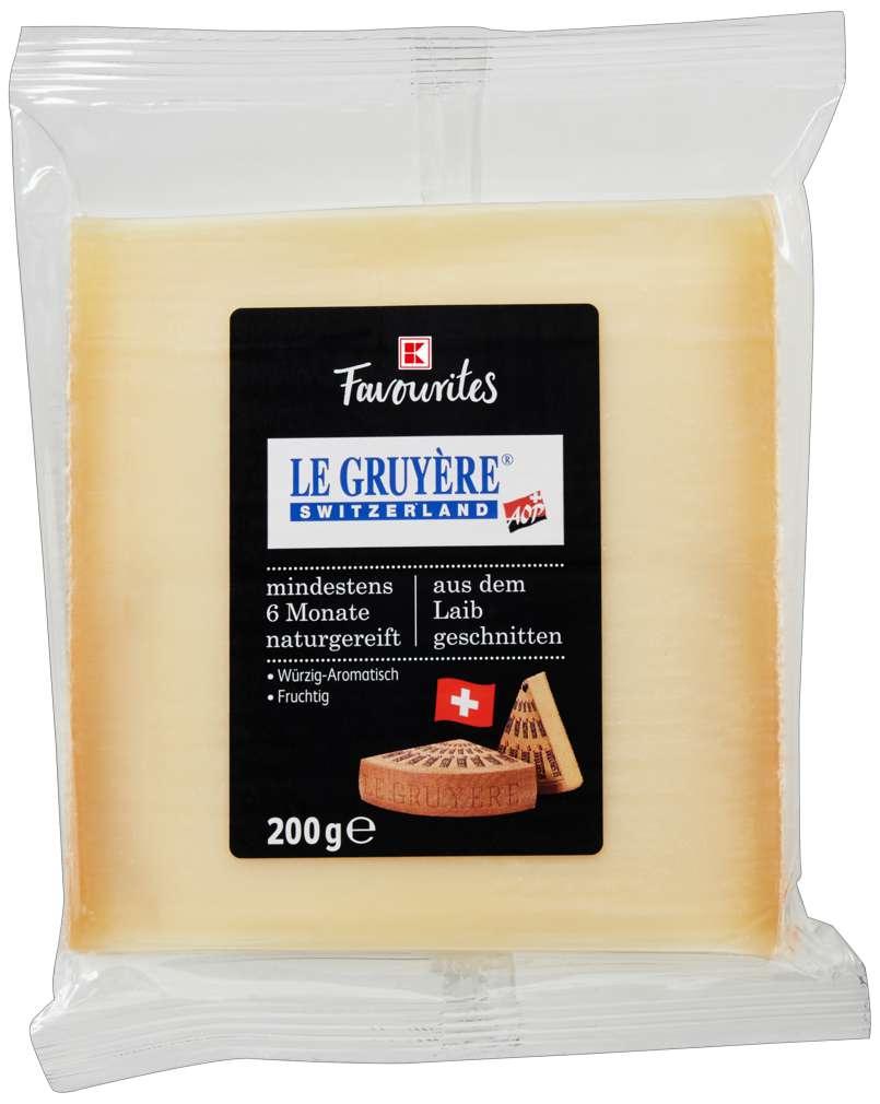 Abbildung des Sortimentsartikels K-Favourites Le Gruyère AOP am Stück 200g