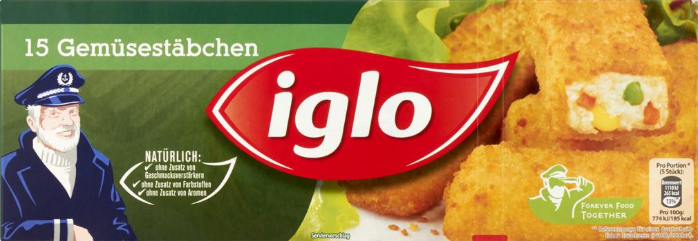 Abbildung des Sortimentsartikels Iglo Gemüsestäbchen 426g, 15 Stück