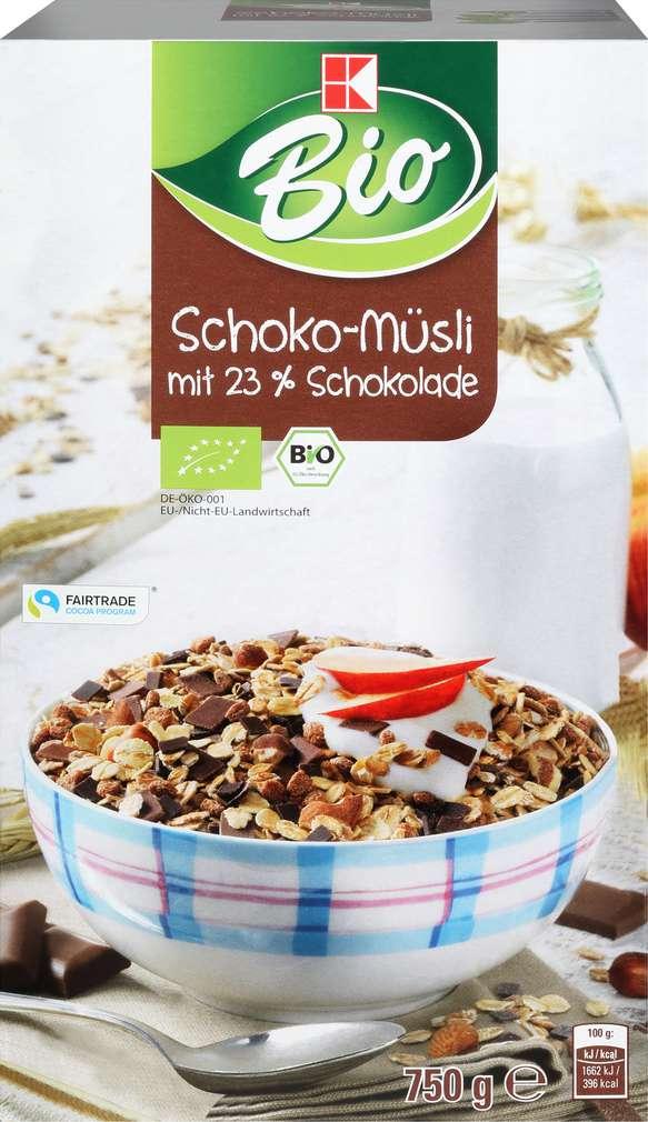 Abbildung des Sortimentsartikels K-Bio Müsli Schoko 750g