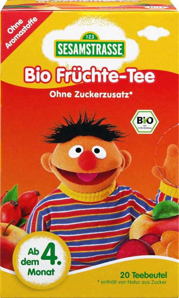 Abbildung des Sortimentsartikels Sesamstrasse Ernie Bio-Früchte-Tee ab 4.Monat 20x2,25g