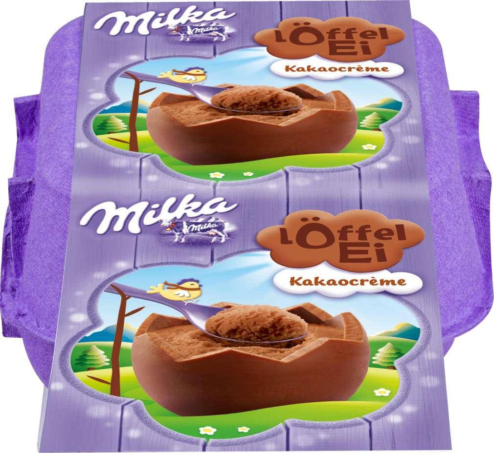 Abbildung des Sortimentsartikels Milka Löffel Eier Kakaocréme 136g, 4 Stück