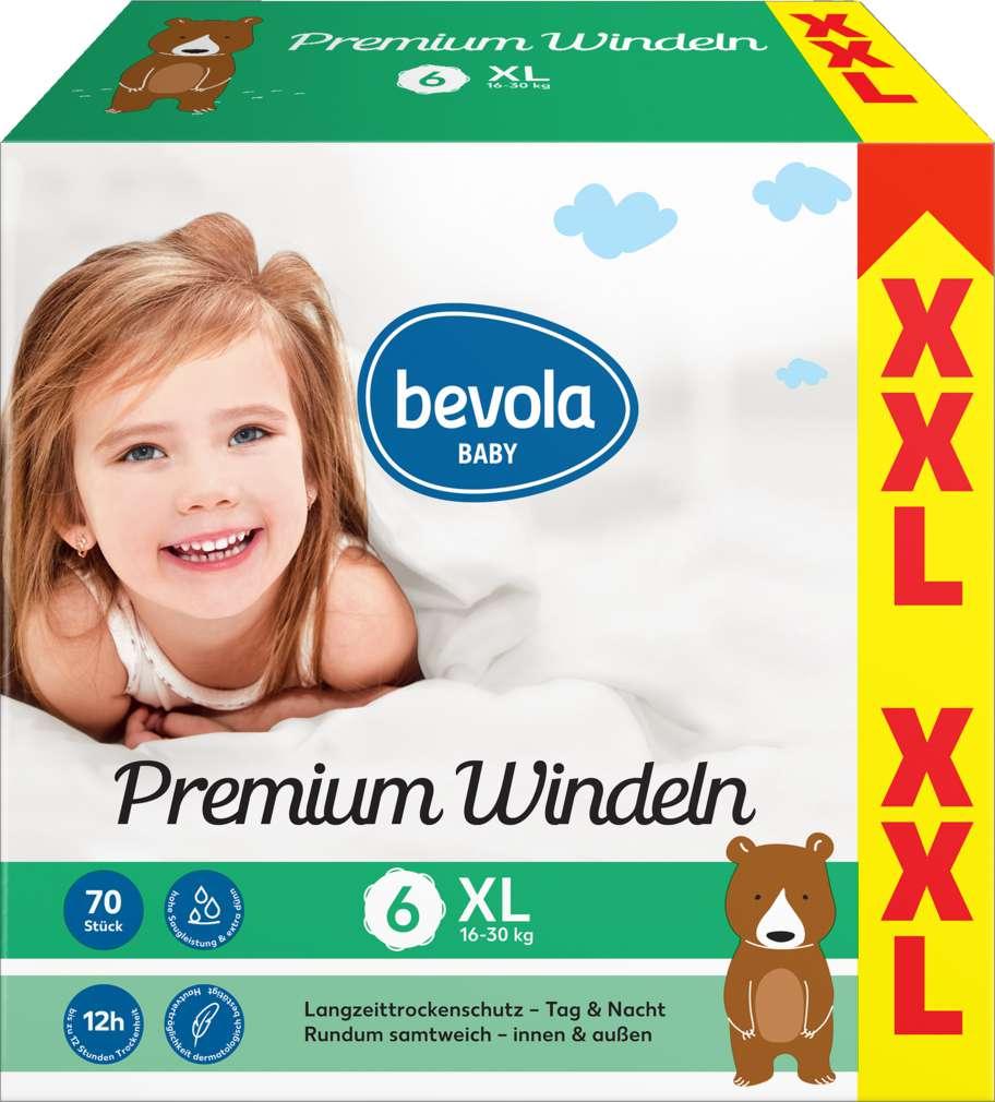 Abbildung des Sortimentsartikels Bevola Windeln XL XXL 2x35 Stück