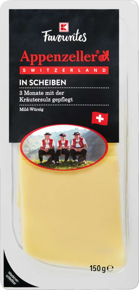 Abbildung des Sortimentsartikels K-Favourites Appenzeller in Scheiben 150g