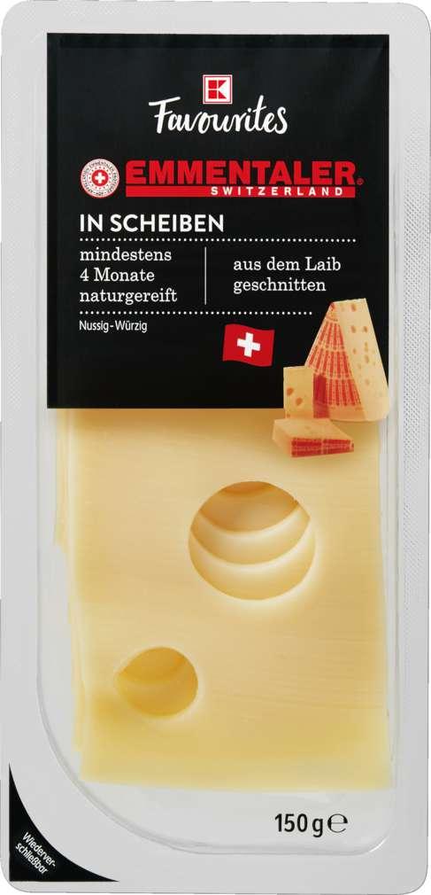 Abbildung des Sortimentsartikels K-Favourites Emmentaler in Scheiben 150g