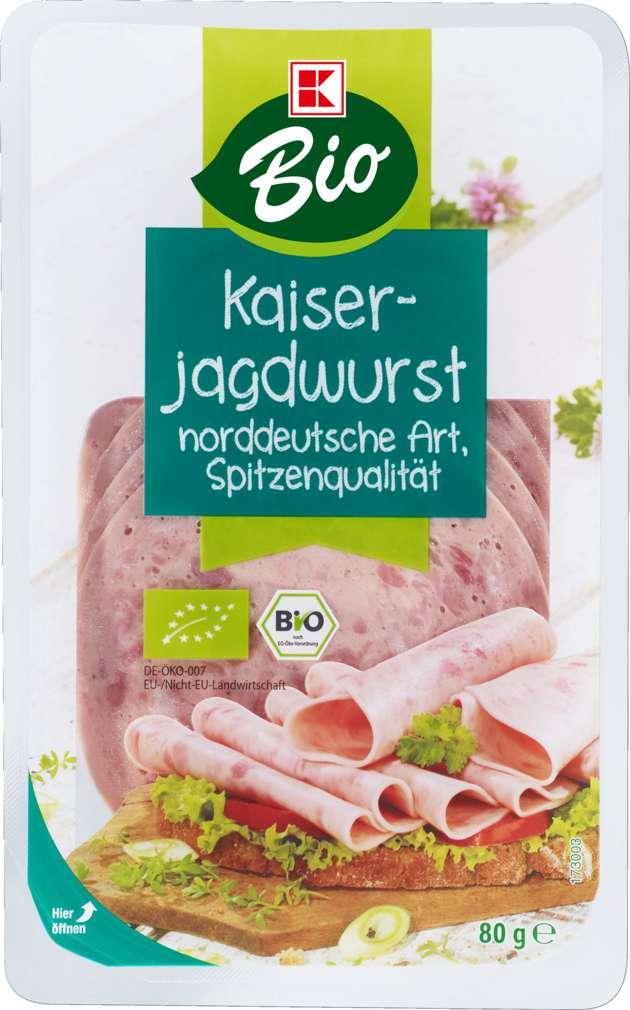 Abbildung des Sortimentsartikels K-Bio Kaiserjagdwurst 80g
