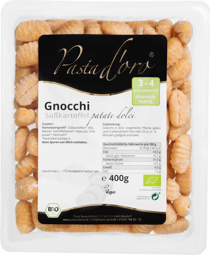 Abbildung des Sortimentsartikels Pasta D'Oro Bio-Gnocchi Süßkartoffel 400g
