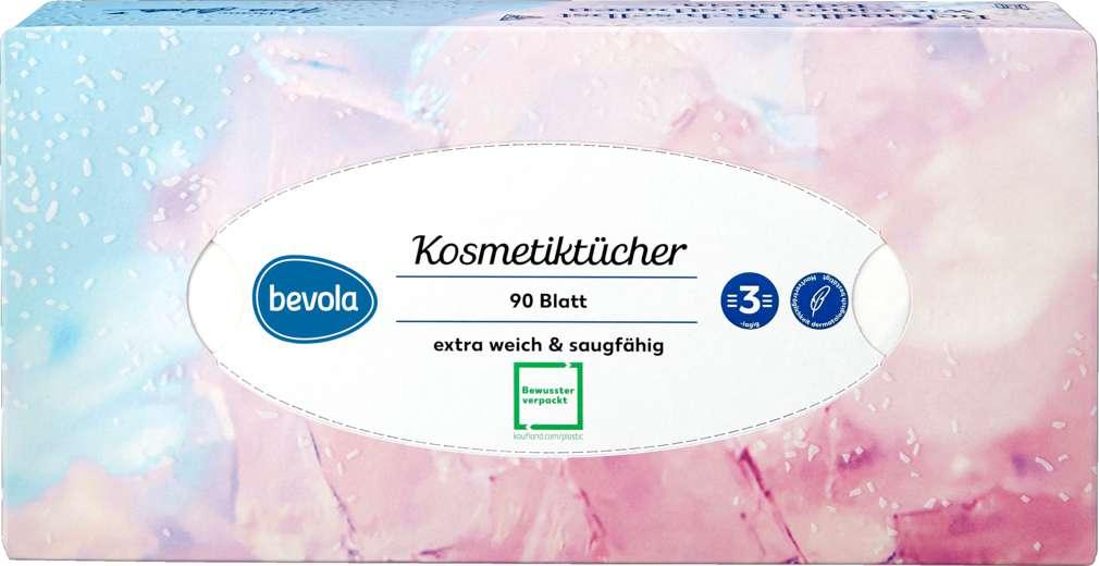 Abbildung des Sortimentsartikels Bevola Kosmetiktücher 3-lagig 90St