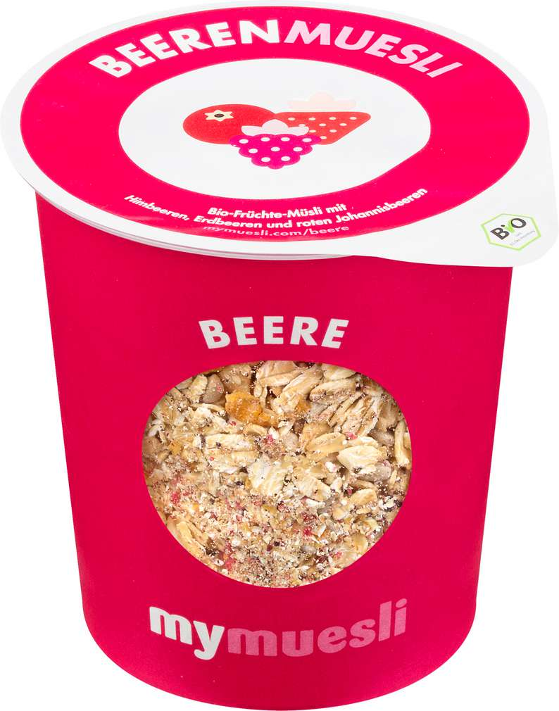 Abbildung des Sortimentsartikels MyMuesli Bio-Müsli to go Beere 85g