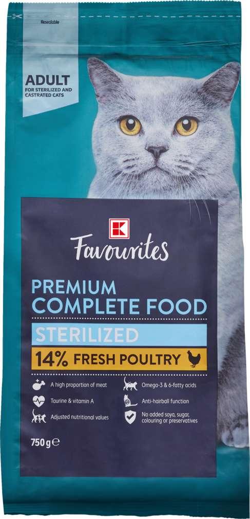 Abbildung des Sortimentsartikels K-Favourites Katzennahrung Premium Sterilized 750g