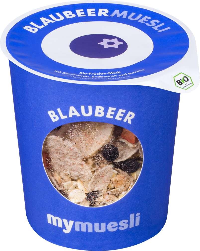 Abbildung des Sortimentsartikels MyMuesli Bio-Müsli to go Blaubeere 85g