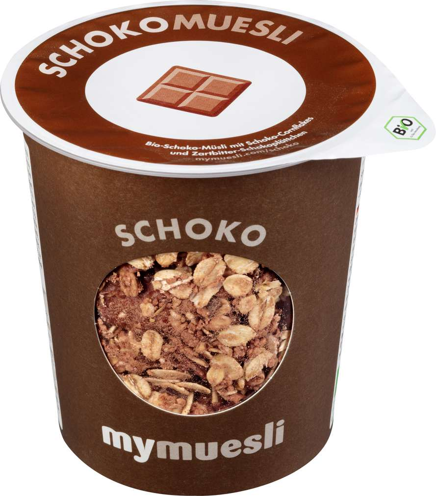 Abbildung des Sortimentsartikels MyMuesli Bio-Müsli to go Schoko 85g