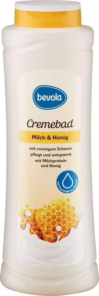 Abbildung des Sortimentsartikels Bevola Cremebad Milch & Honig 1L
