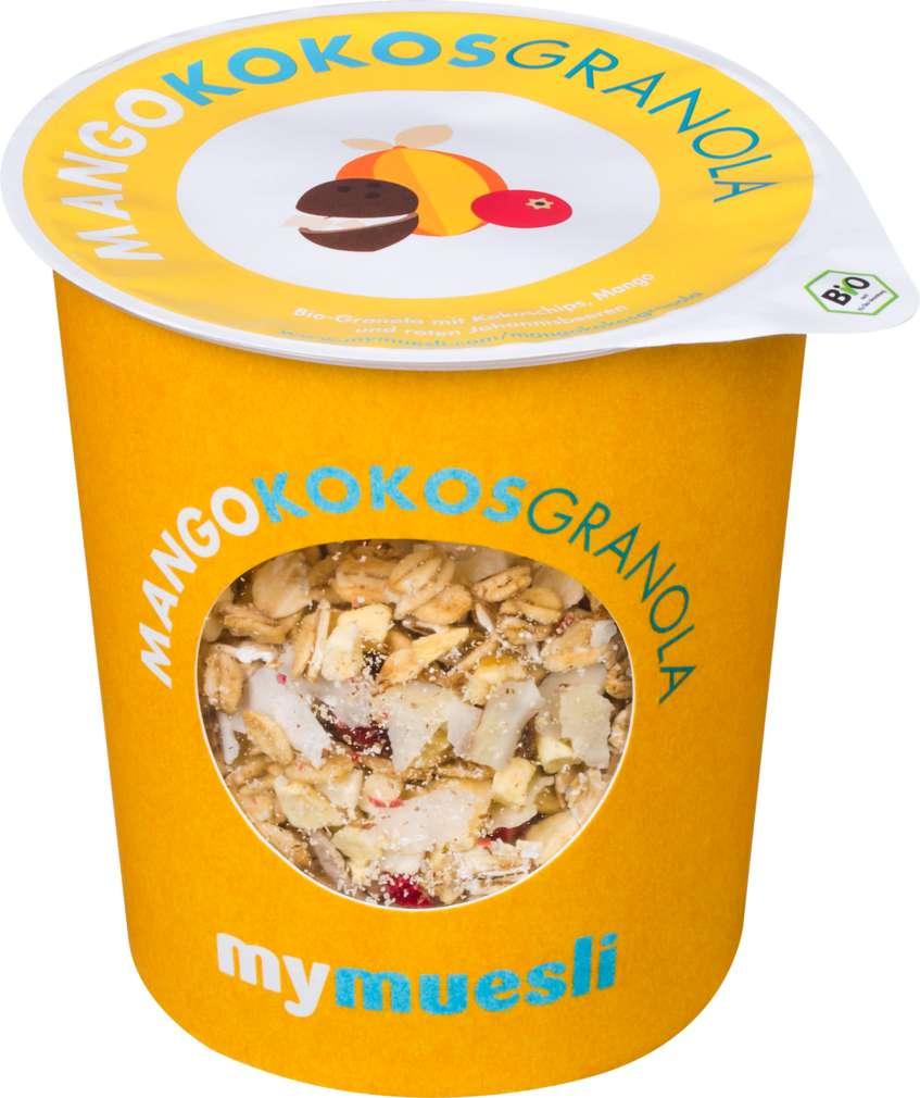 Abbildung des Sortimentsartikels MyMuesli Bio-Müsli to go Mango-Kokos 85g