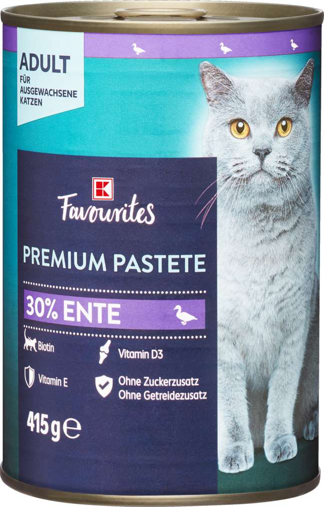 Abbildung des Sortimentsartikels K-Favourites Katzennahrung Premium Pate Ente 415g