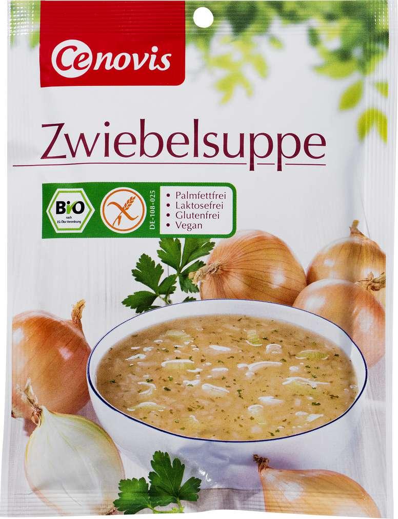 Abbildung des Sortimentsartikels Cenovis Bio-Zwiebelsuppe glutenfrei, 3 Teller 53g