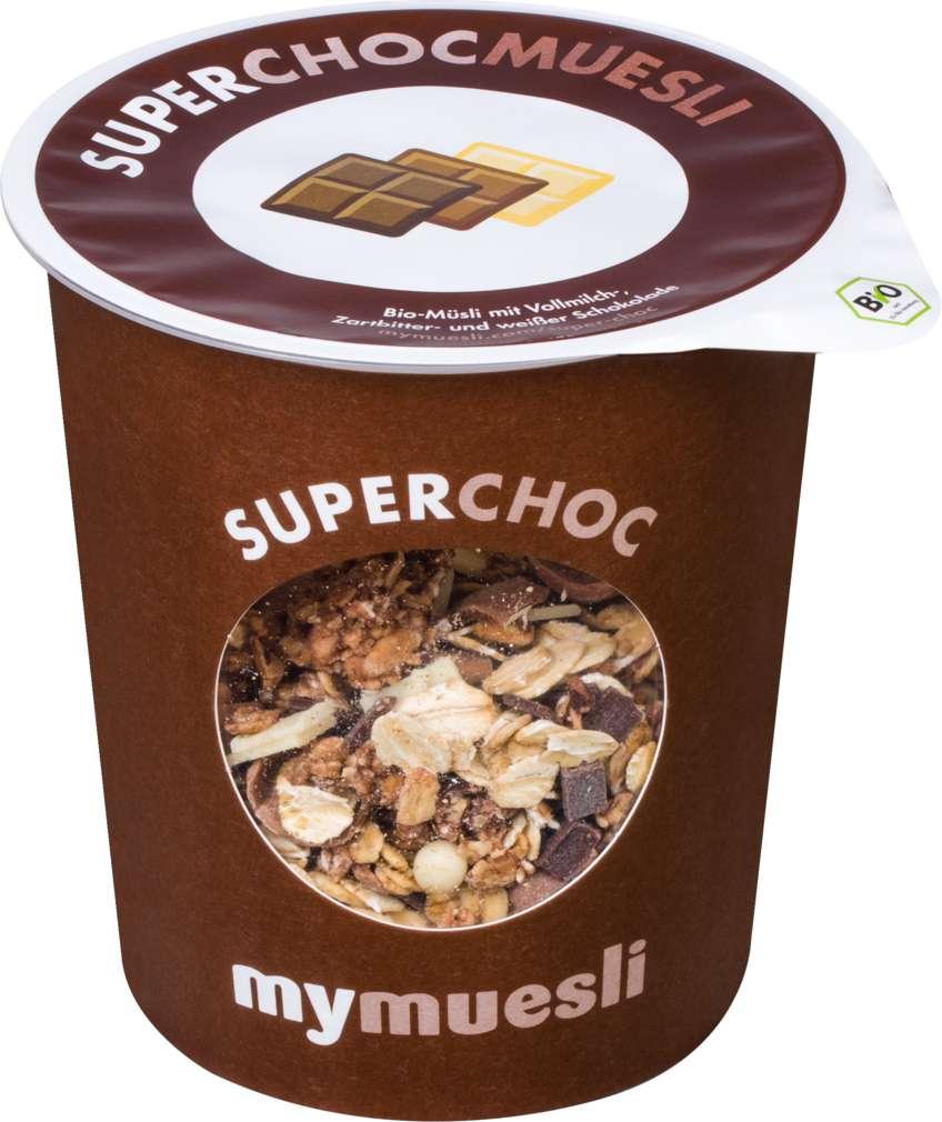Abbildung des Sortimentsartikels MyMuesli Bio-Müsli to go Superchoc 85g