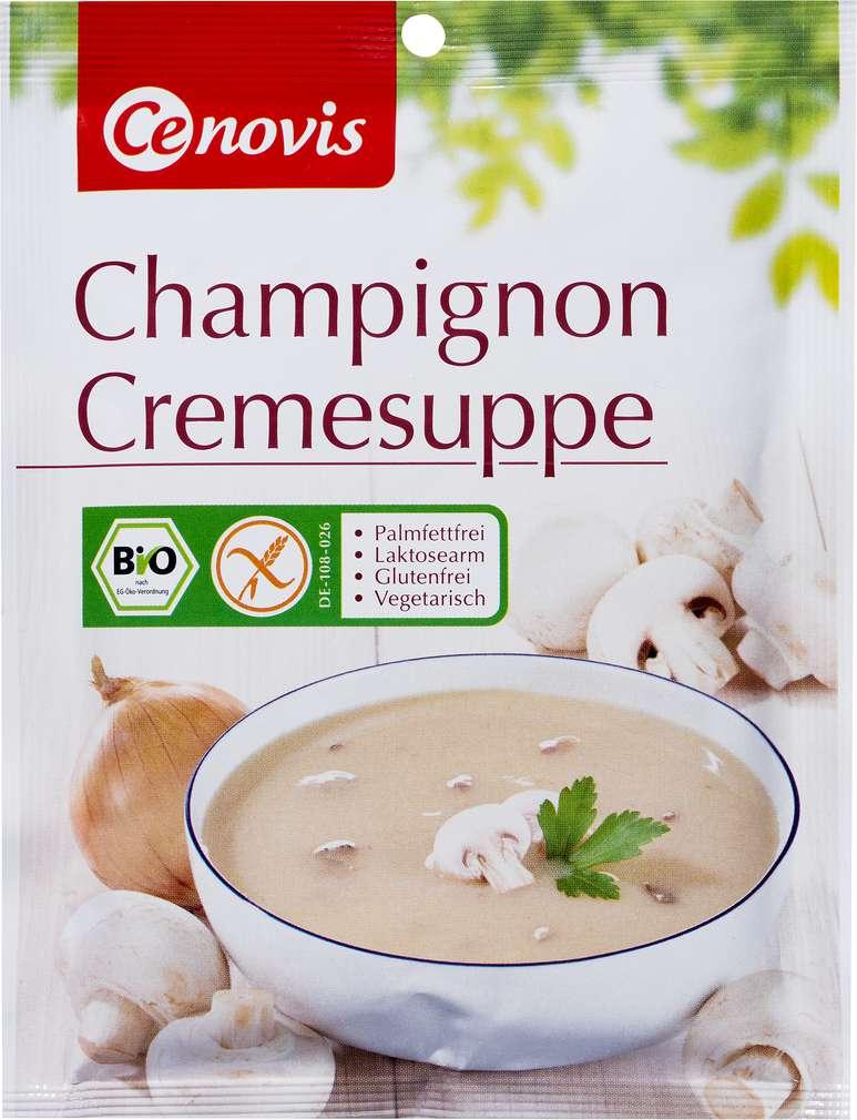 Abbildung des Sortimentsartikels Cenovis Bio-Champignon Cremesuppe glutenfrei 3 Teller 60g