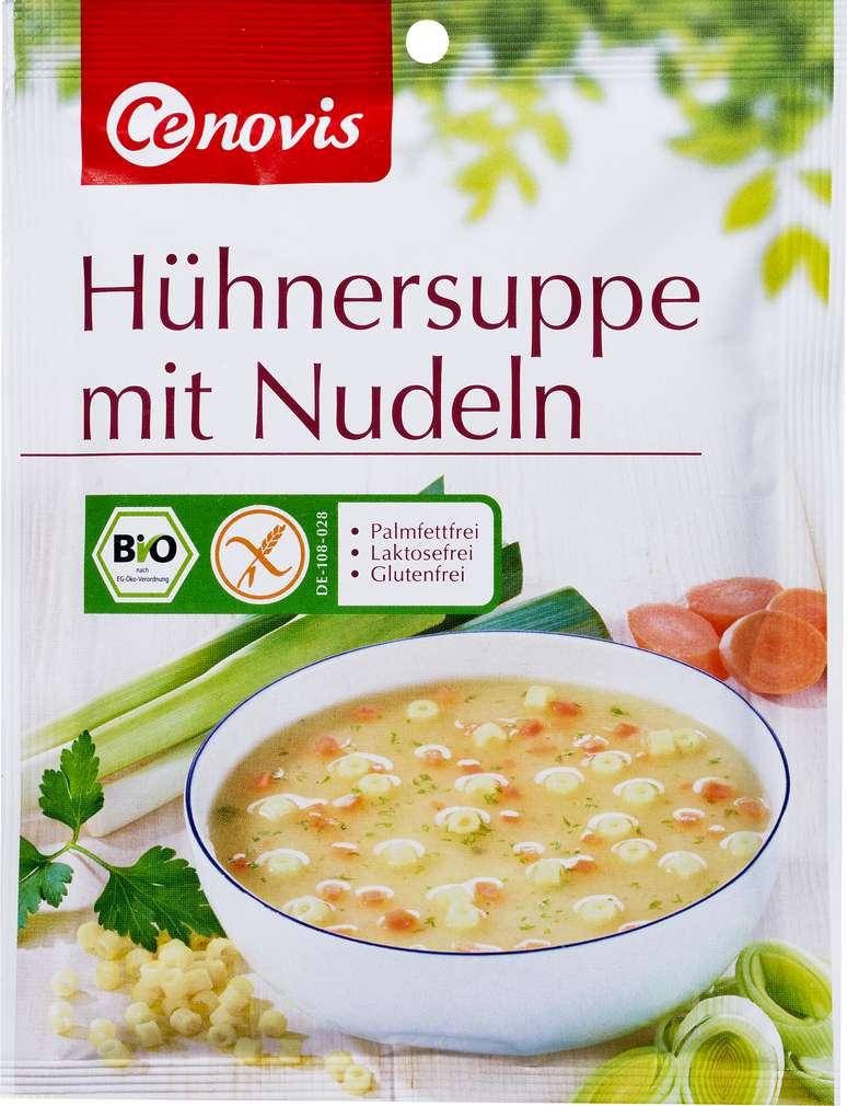 Abbildung des Sortimentsartikels Cenovis Bio-Hühnersuppe mit Nudeln glutenfrei, 2 Teller 30g