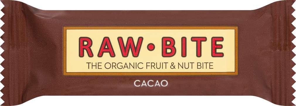 Abbildung des Sortimentsartikels Raw Bite Bio-Rohkostriegel Cacao, vegan 50g