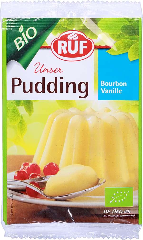 Abbildung des Sortimentsartikels Ruf Bio Unser Pudding Bourbon Vanille 2x40g