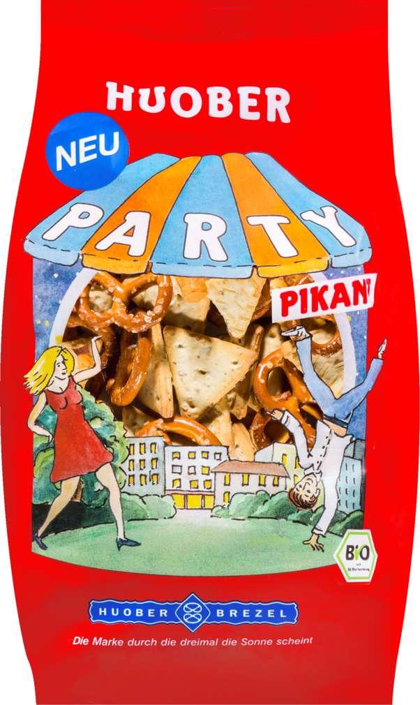 Abbildung des Sortimentsartikels Huober Bio-Party Mix Pikant 200g