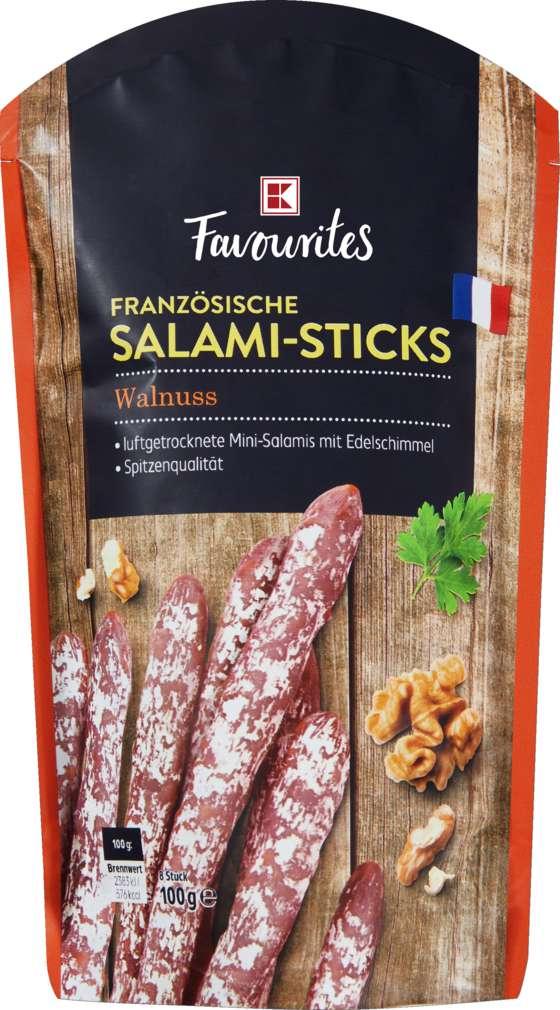 Abbildung des Sortimentsartikels K-Favourites Salami Sticks Walnuss 100g