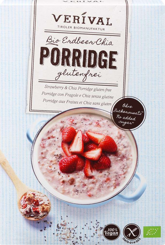 Abbildung des Sortimentsartikels Verival Erdbeere Bio-Porridge 350g
