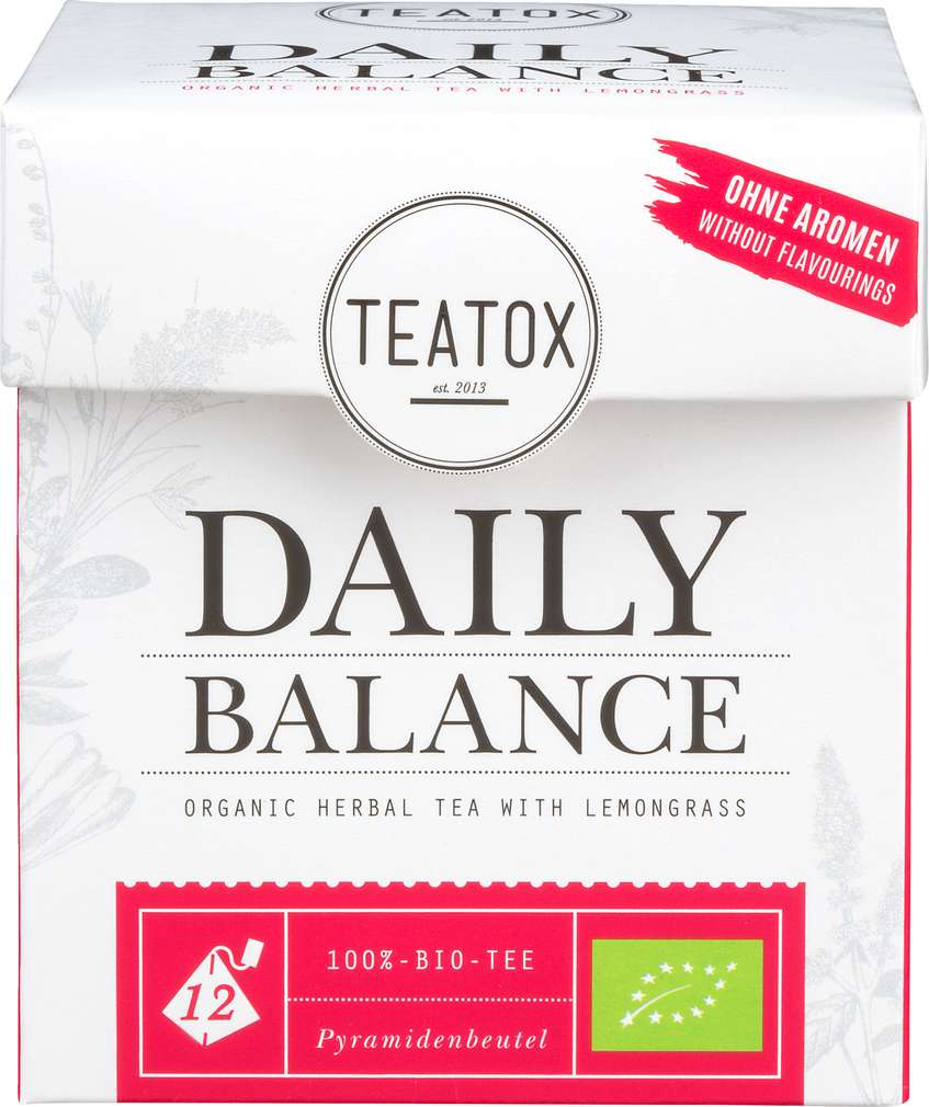 Abbildung des Sortimentsartikels Teatox Daily Balance Bio-Kräutertee 12x2g