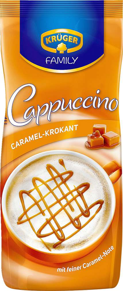 Abbildung des Sortimentsartikels Krüger Family Cappuccino Caramel-Krokant 500g
