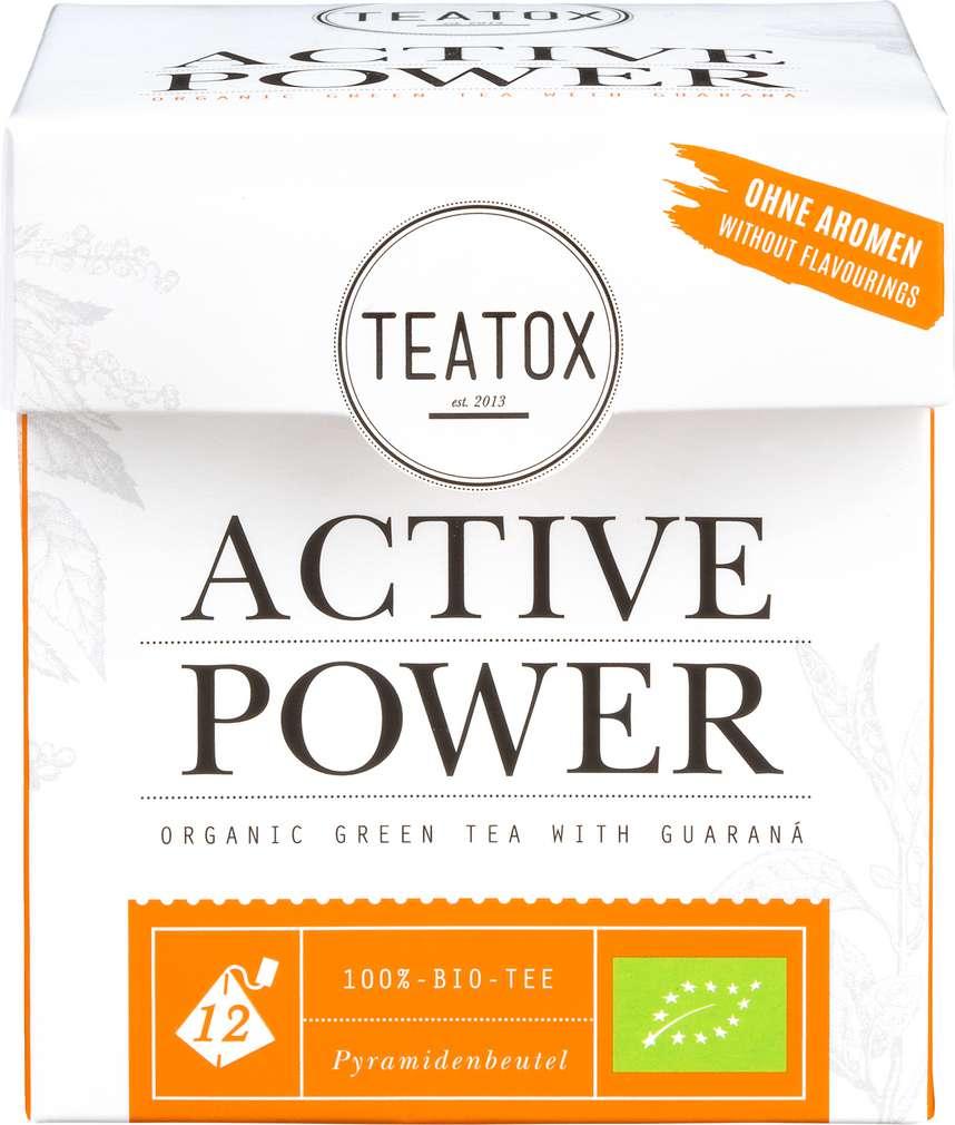 Abbildung des Sortimentsartikels Teatox Active Power Bio-Grüntee+Guarana 12x2g