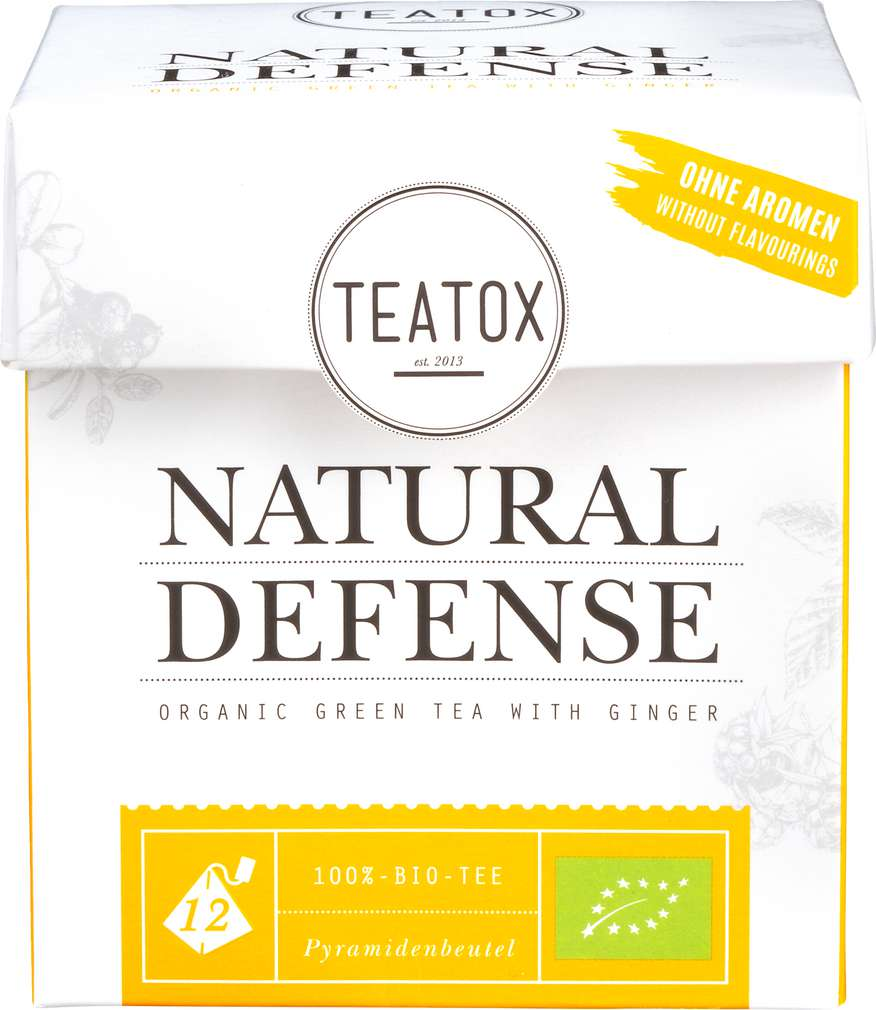Abbildung des Sortimentsartikels Teatox Natural Defense Bio-Grüntee 12x2g