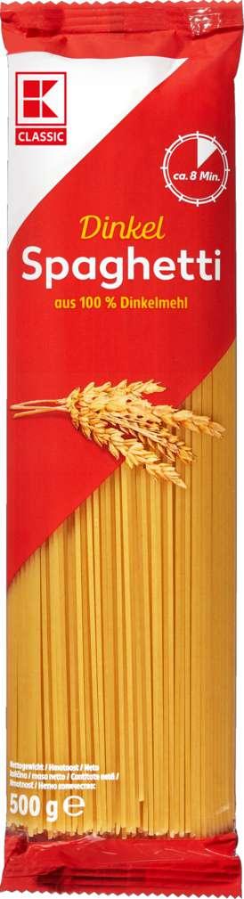 Abbildung des Sortimentsartikels K-Classic Dinkelspaghetti 500g