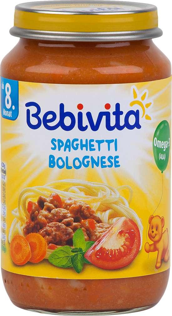 Abbildung des Sortimentsartikels Bebivita Spaghetti Bolognese ab dem 8.Monat 220g