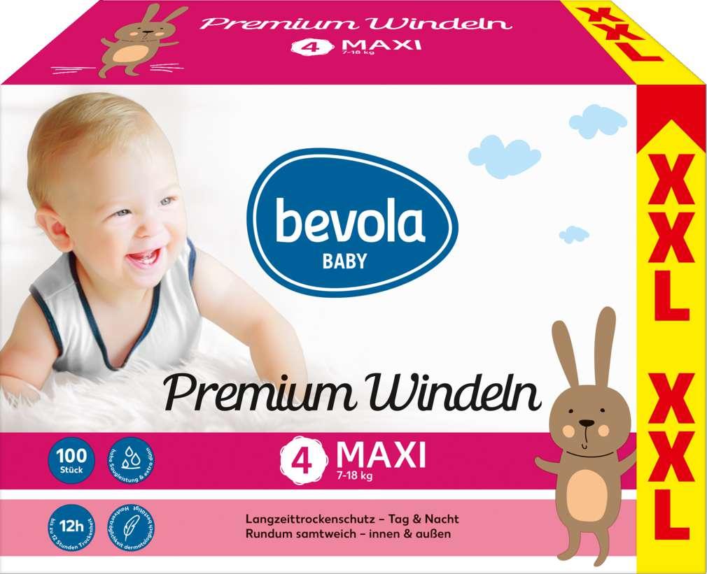 Abbildung des Sortimentsartikels Bevola Windeln Maxi XXL 2x50 Stück