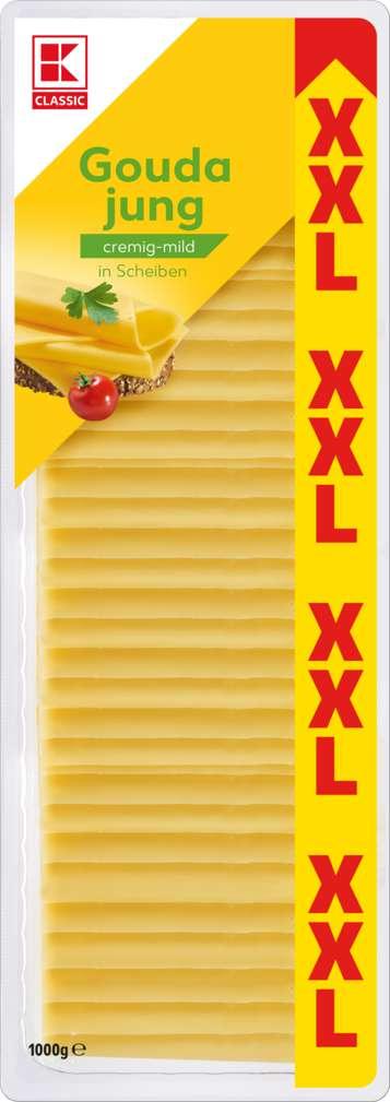 Abbildung des Sortimentsartikels K-Classic XXL Gouda jung in Scheiben 1000g