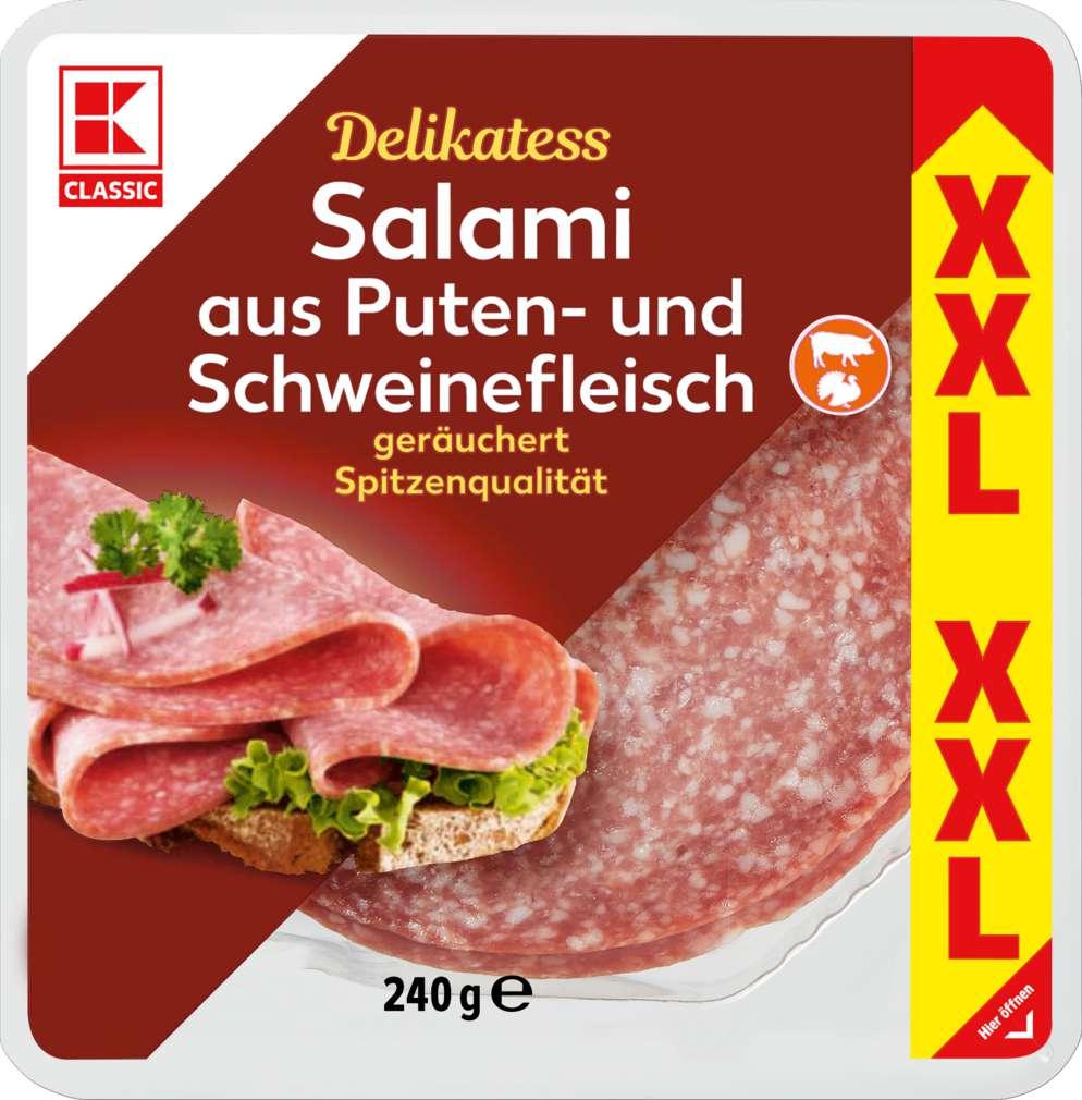 Abbildung des Sortimentsartikels K-Classic XXL Salami Pute und Schwein 240g